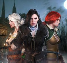 The Witcher - Ladies by DemonLeon3D on DeviantArt