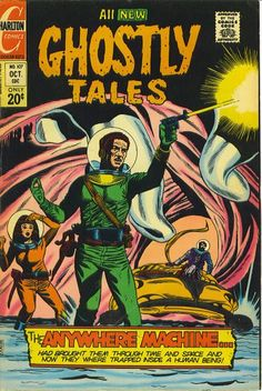 Cover for Ghostly Tales (Charlton, 1966 series) Sci Fi Comics, Horror Comics, Marvel Dc Comics, Book Cover Art, Comic Book Covers, Comic Book Characters, Comic Books, Comic Art, Charlton Comics