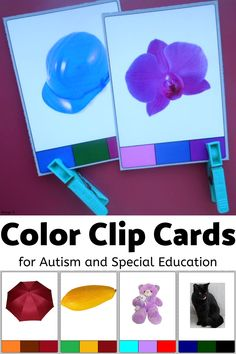 LOve this simple activity for color indentification! It is very useful and works great for students with autism. #colors #autism