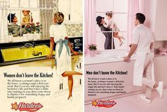 """Eli Rezkallah highlights sexism in a photo series called """"In a Parallel Universe"""" that reimagines sexist ads from the with the gender roles reversed."""