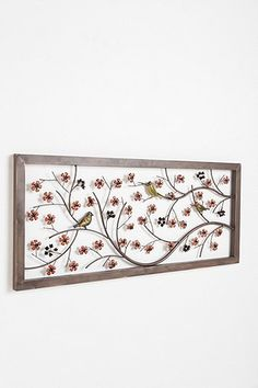 Birds and Flowers Headboard