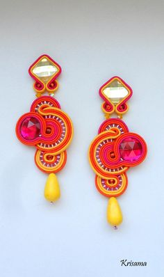 Sonnige Soutache Ohrringe / Sunny soutache earrings