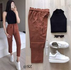 terno top and pants korean fashion boho terno summer terno for women elegant top and pants Black Dress Outfits, Summer Dress Outfits, Casual Dress Outfits, Sporty Outfits, Winter Fashion Outfits, Casual Summer Dresses, Chic Outfits, Trendy Outfits, Harry Styles Clothes