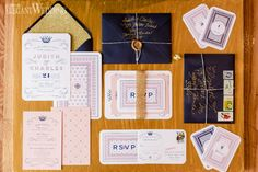 Navy, Pink and Gold Wedding Invitations and Stationery | ROYAL BLUSH WEDDING INSPIRATION http://www.elegantwedding.ca