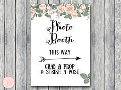 Photobooth Sign Grab a prop and take a pose by BrideandBows
