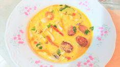 Reteta culinara Supa cu chorizo, ciuperci si zucchini din categoria Supe. Specific Romania. Cum sa faci Supa cu chorizo, ciuperci si zucchini Supe, Chorizo, Thai Red Curry, Zucchini, Ethnic Recipes, Food, Meal, Essen, Hoods