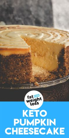 You might usually take a pumpkin pie for Thanksgiving dessert, but what if you took a keto pumpkin cheesecake this year? This recipe has been tested and reviewed by real people who don't follow a keto diet! #ketocheesecake #pumpkin