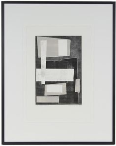 """21123- Rob Delamater, 2012, Monotype on Paper, 20""""x25"""" Framed"""