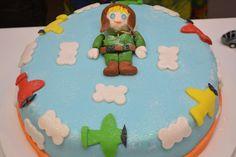 Festa pequeno aviador - avioes  - bolo