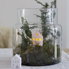 Catch a winter landscape in a big jar with this easy tutorial