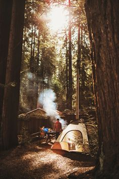 June ❤❤❤Camping in the woods is awesome!