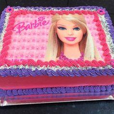 Bolo da Barbie quadrado com detalhes em roxo, branco e rosa Barbie Theme Party, Party Themes, Cake Designs For Girl, Bolo Barbie, Spa Birthday Parties, Amanda, Aurora Sleeping Beauty, Cakes, Disney Princess