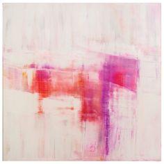 Pink abstract painting : : carol benson-cobb