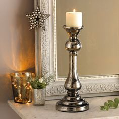 Pillar Candlestick from The White Company