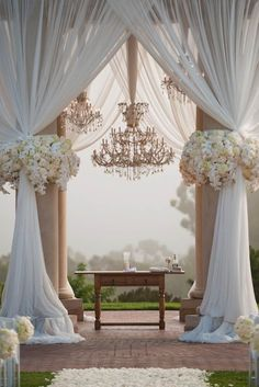 24 White Wedding Decoration Ideas ❤ See more: http://www.weddingforward.com/white-wedding-decoration-ideas/ #wedding #bride