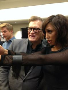 Me and Drew Carey taking selfies at Good Morning America!