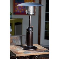 Patio Heater Covers   AZ Patio Heaters Golden Flame Portable Table Top  Glass Tube Patio Heater Pebbled Mocha Bronze    Click Image For More  Details.