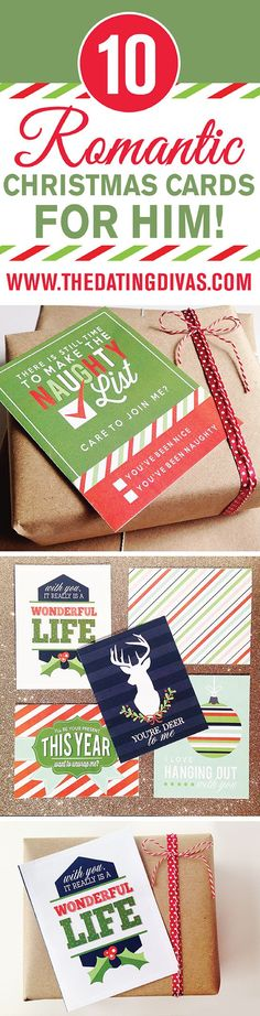 10 FREE Romantic Christmas Cards for your husband or boyfriend- all you have to do is print!