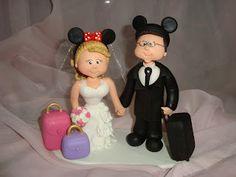 Casal tema Disney, este topo foi feito para um casal que passou a lua de mel na Disney