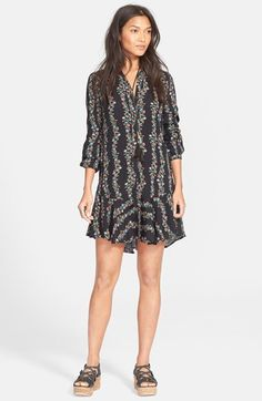 Free People Button Front Shirtdress available at #Nordstrom