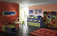 Bedroom design smart furniture for two kids bright kids bedroom bedroom design two children, two boys room design, two kids one room design #Bedroom