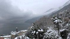 Lago Maggiore - Brissago im Schnee (Switzerland) Switzerland, Outdoor, Mountains, Night, Scenery, Outdoors, Outdoor Living, Garden