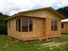 Casas prefabricadas en Chile. Más información sobre este y otro tipo de casas prefabricadas en: casasprefabricadasya.com #casas #prefabricadas #baratas #madera #diseño