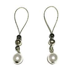 Nipple Jewelry Noose Czech Pearl Silky White #nipplerings #nipples #nipplenoose #bodivas