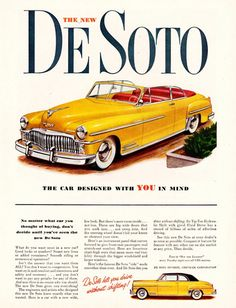 DeSoto Custom Convertible 1949 - Mad Men Art: The 1891-1970 Vintage Advertisement Art Collection
