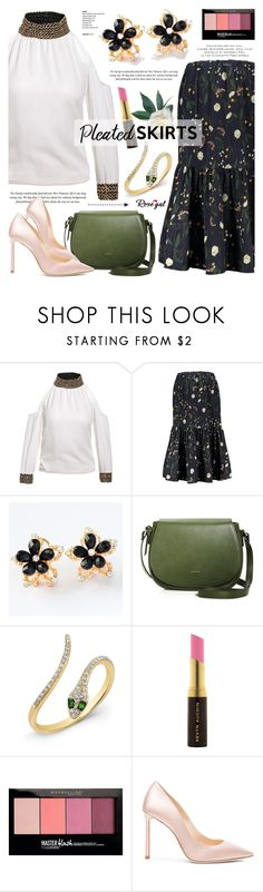 """""""Rosegal 44"""" by cly88 ❤ liked on Polyvore featuring Angela Roi, Anne Sisteron, Kevyn Aucoin, Maybelline and Jimmy Choo"""