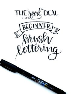 Beginner Brush Lettering: Basic Brushstrokes - One Artsy Mama