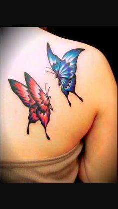 blue back shoulder butterfly tattoos for women blue butterfly tattoos . Butterfly Tattoos Images, Blue Butterfly Tattoo, Butterfly Tattoo Meaning, Butterfly Tattoo On Shoulder, Butterfly Tattoo Designs, Butterfly Photos, Red Butterfly, Shoulder Tattoos, Butterfly Design
