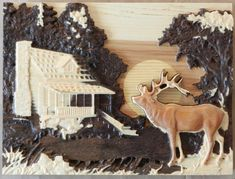 Elk by mountain Cabin | Etsy Using A Router, Amazing Decor, Easy Wall, Garden Items, Wire Hangers, Household Items, Elk, Masters, Solid Wood
