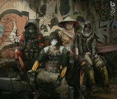 Apocalypse Kowloon: The Dystopian Art Of Nivanh Chanthara Cyberpunk 2020, Arte Cyberpunk, Arte Sci Fi, Sci Fi Art, Post Apocalypse, Steampunk, Science Fiction, Science Experiments, Dystopian Art