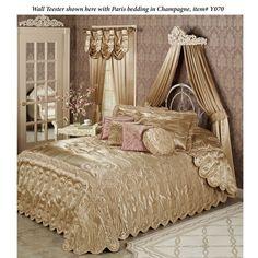 home decor bedroom lights Satin Bedding, Luxury Bedding, Dream Bedroom, Home Decor Bedroom, Bedroom Ideas, Master Bedroom, Romantic Bedrooms, Beautiful Bedrooms, Bed Crown