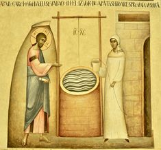 The Samaritan Woman (St. Photini) with Christ at the well by Ioan Popa