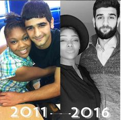 theycallmemi__ 2011 to 2016 with the hubs! Y'all this is embarrassing and almost 6 years ago  in high school. I cannot take my eyebrows and that eye shadow seriously