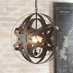 Double Metal Strap Globe Lantern