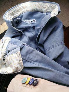 Jeans 7oz stone washed by Franco Lovi  #CamiciaiDal1938 #MadeinItaly #camicie #FrancoLovi #shirt #stonewashed