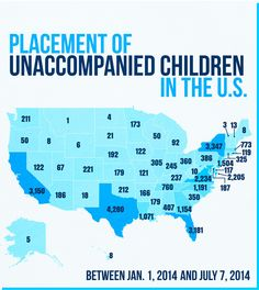 Here Are The States Where Thousands Of The Children That Crossed The Border Have Been Placed