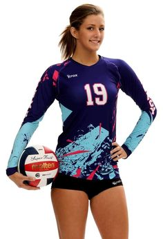 This Women's Boa sublimated volleyball jersey launched in shows off the possibilities of Sublimation. It offers a lightweight polyester spandex volleyball uniform for juniors with sizing down to XXS. Volleyball Shirts, Volleyball Jersey Design, Volleyball Outfits, Volleyball Pictures, Beach Volleyball, Softball, Soccer, Baseball, Sports Uniforms
