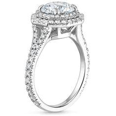 18K White Gold Roslin Diamond Ring (3/4 ct. tw.), top view