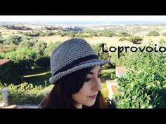 Cappello fedora all'uncinetto - Crochet Fedora Hat - YouTube