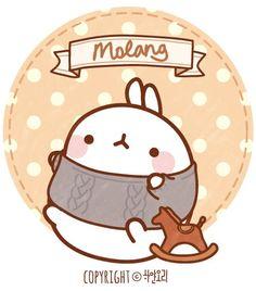 Molang in some winter gear! Kawaii Drawings, Cute Drawings, Kawaii Crush, Kawaii Bunny, Baby Icon, Molang, Cartoon Painting, Character Wallpaper, Kawaii Wallpaper