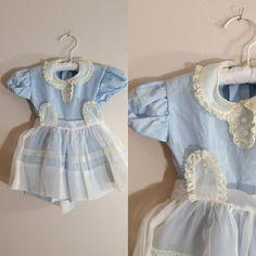 Vintage 1950s Baby Dress / Alice In Wonderland Dress / 12-18 Months Shop at www.etsy.com/Shop/ThriftyVintageKitten