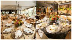 Arranjos de flores para mesa dos convidados - Casamento Karina & Wilson