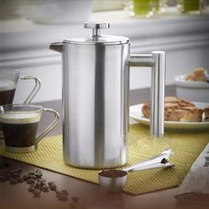 350ml Doublewall Stainless Steel Coffee Plunger French Press Tea Maker Handy Coffee Machine