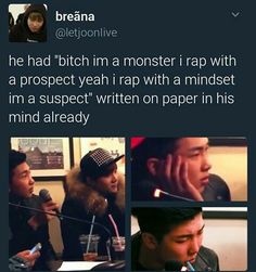 oh that other rapper that suga and rapmon were talking to was so fuckin annoying