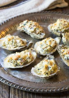 Best Three-Cheese Baked Oysters Recipe (In The Shell!) Best Picture For Shellfish Recipes healthy For Your Baked Oyster Recipes, Cheese Recipes, Shellfish Recipes, Seafood Recipes, Sushi Recipes, Broiled Oysters Recipe, Cheddar, Oyster Stew, Recipes