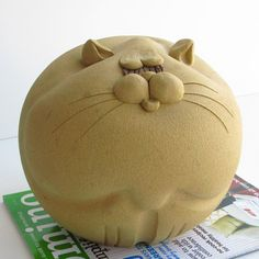 70s Fat Cat Piggy Bank Ceramic now featured on Fab.